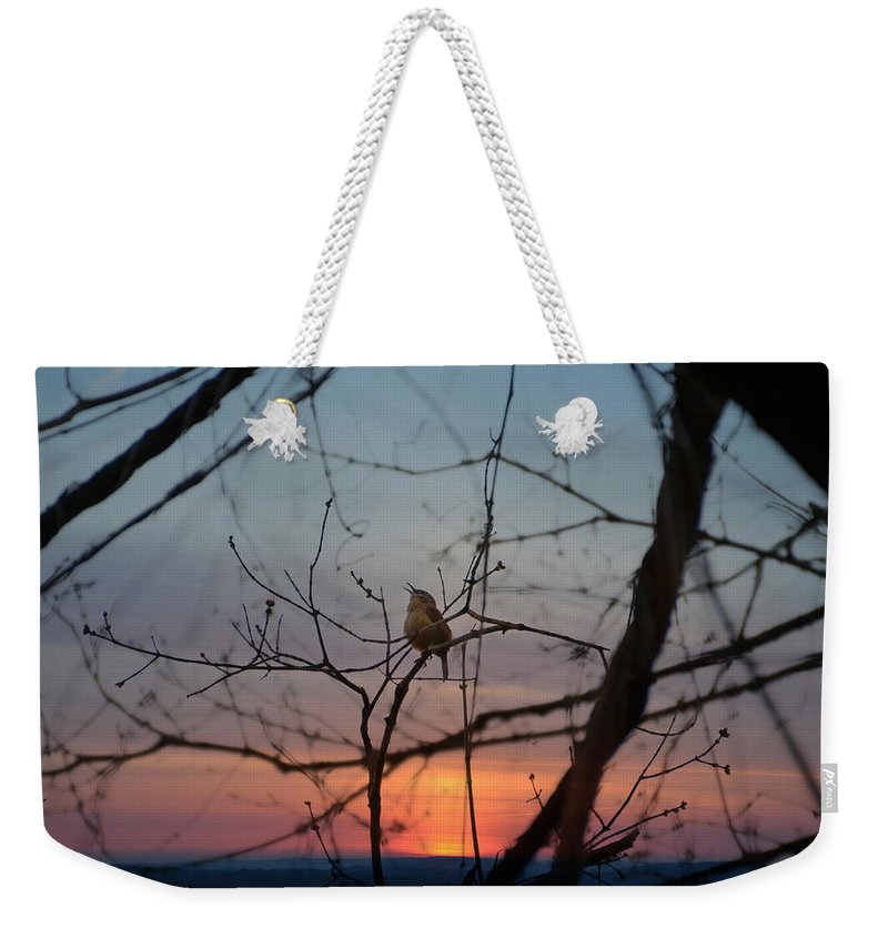 Sing Weekender Tote Bag featuring the photograph Singing Songs Of Spring by Bill Cannon