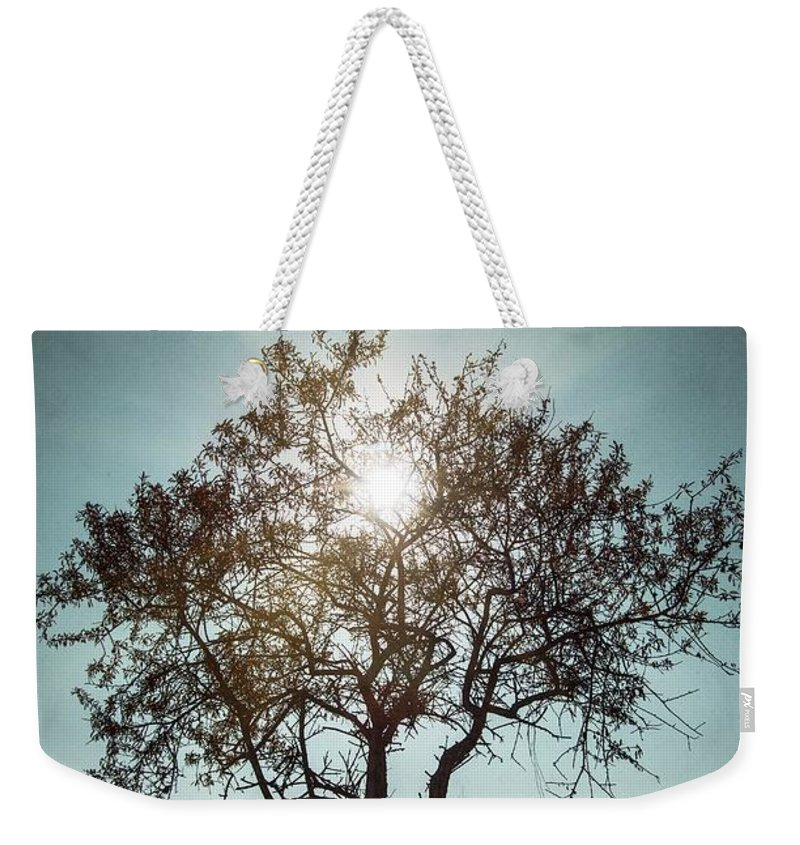 Dark Weekender Tote Bag featuring the photograph Single Tree by Carlos Caetano