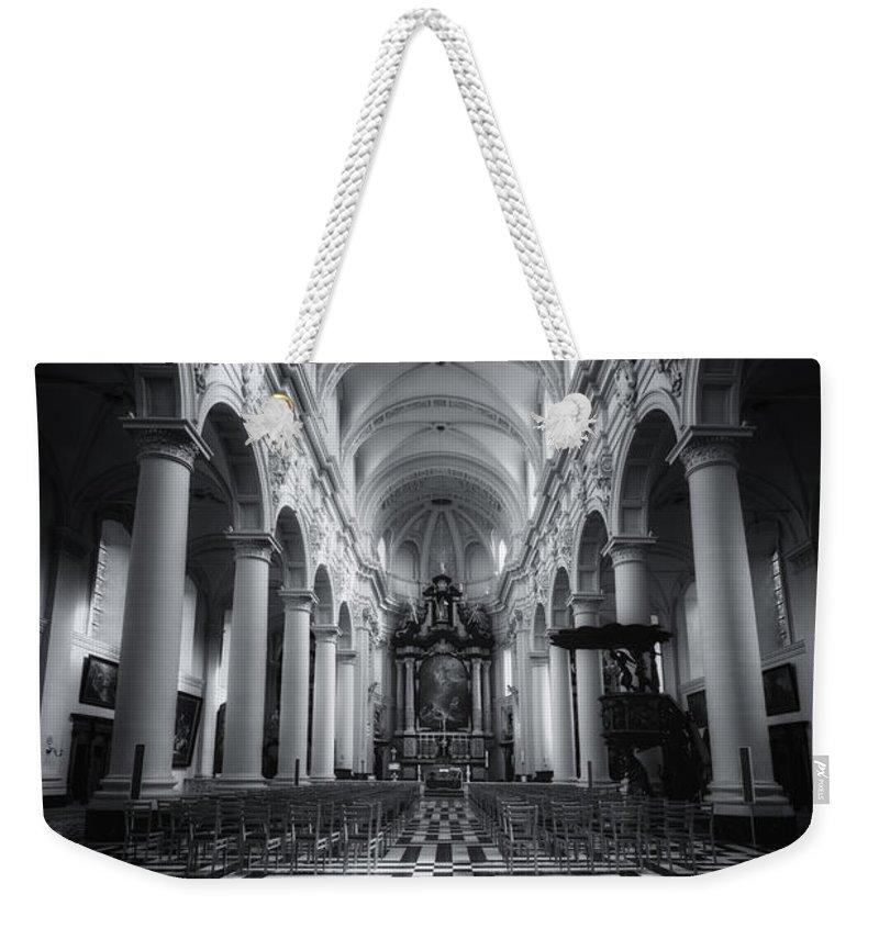 Joan Carroll Weekender Tote Bag featuring the photograph Sint Walburgakerk by Joan Carroll