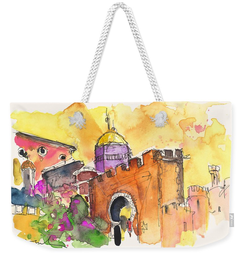 Travel Weekender Tote Bag featuring the painting Sintra Castle by Miki De Goodaboom