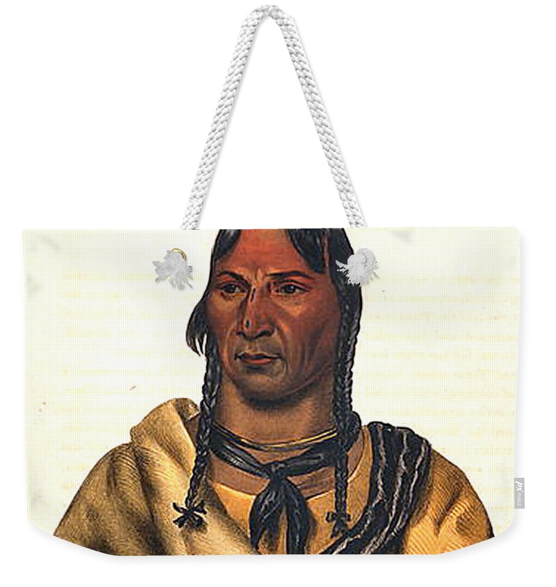 Sioux Chief 1883 Weekender Tote Bag featuring the digital art Sioux Chief 1883 by Unknown