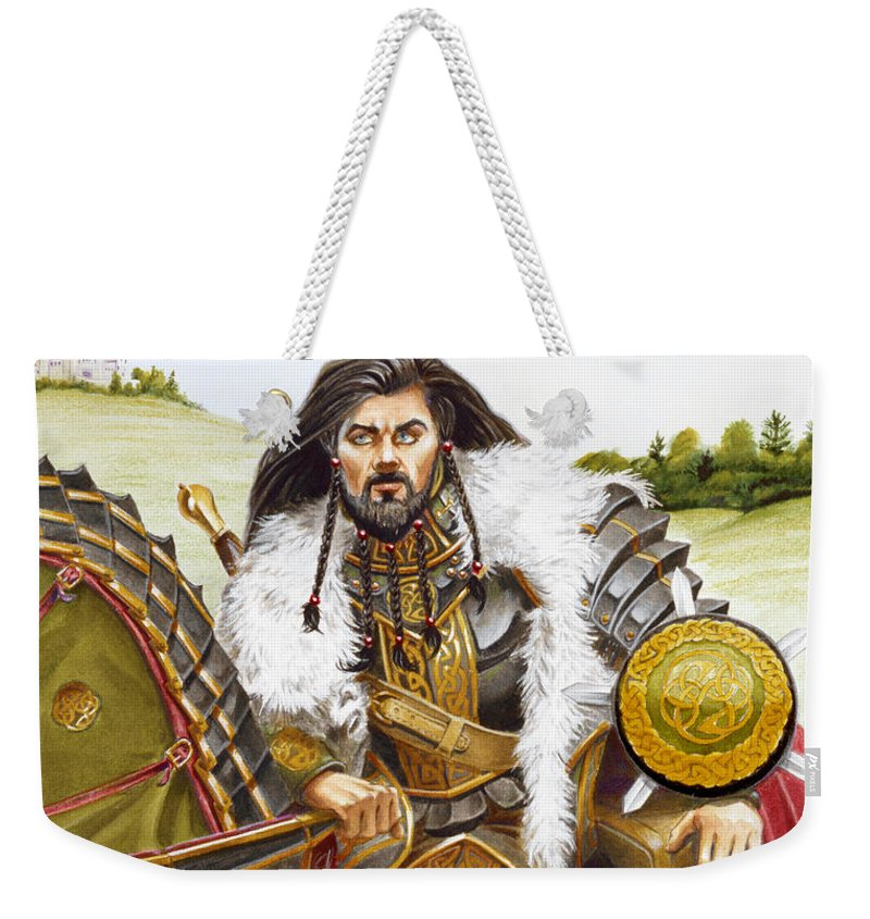 Fine Art Weekender Tote Bag featuring the painting Sir Marhaus by Melissa A Benson
