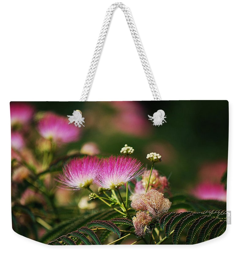Becky Furgason Weekender Tote Bag featuring the photograph #elevatormusic by Becky Furgason