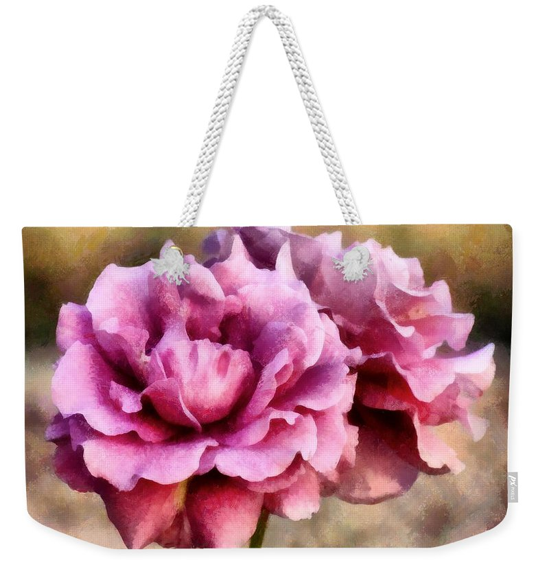 Roses Weekender Tote Bag featuring the painting Sisters Before The Storm by RC DeWinter