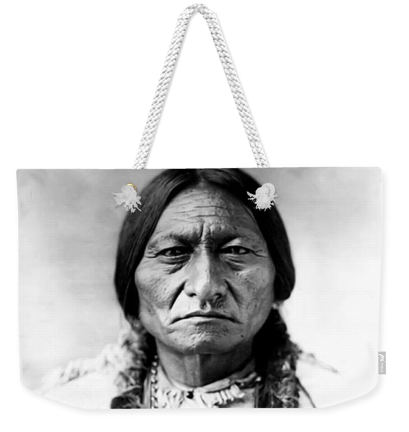 Sitting Bull Weekender Tote Bag featuring the photograph Sitting Bull by Bill Cannon