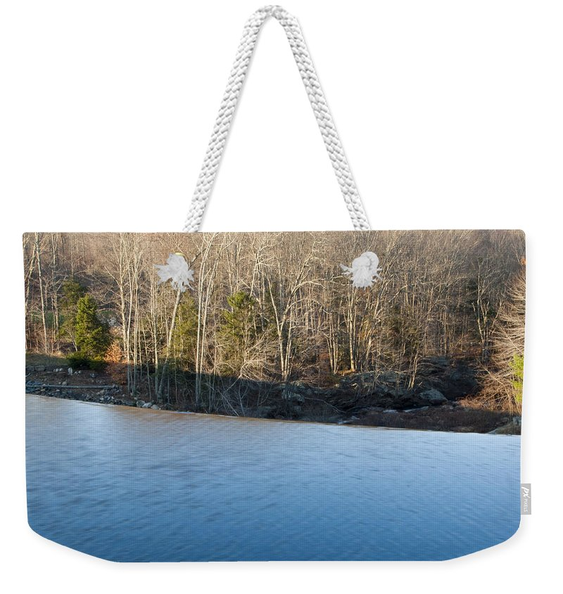 Photography Weekender Tote Bag featuring the photograph Situate Dam by Steven Natanson