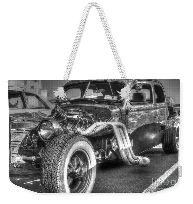 Classic Car Weekender Tote Bag featuring the photograph Skeleton Of A Classic Car by Darleen Stry