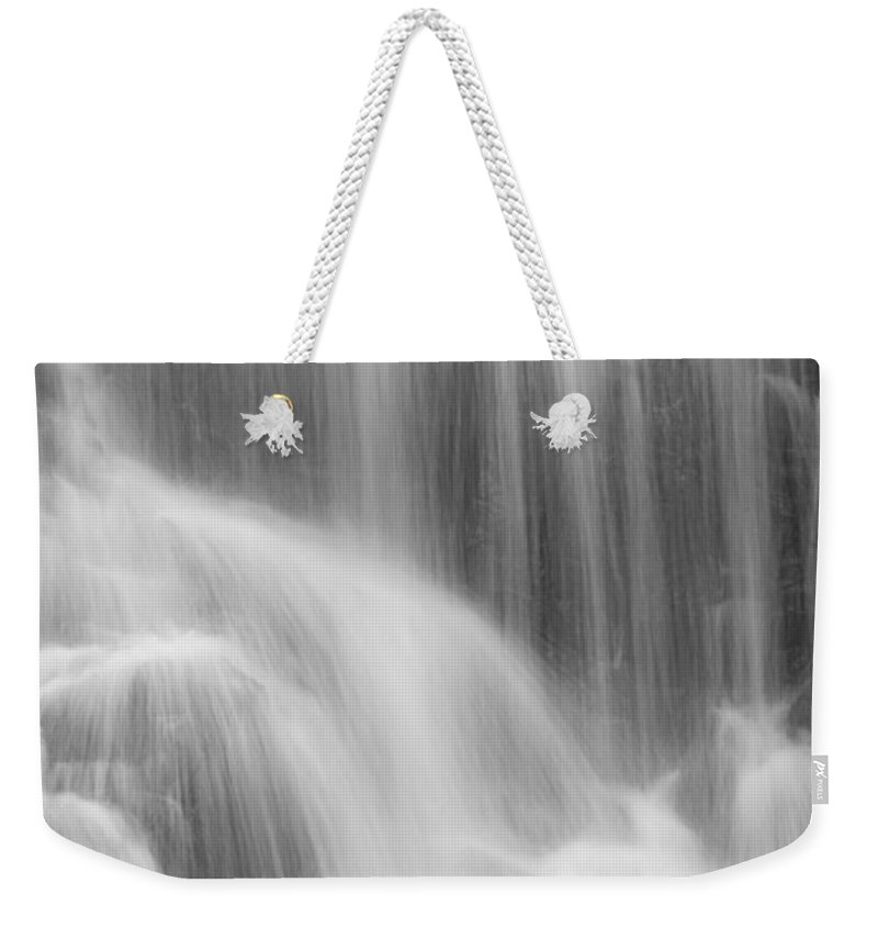 Close-up Weekender Tote Bag featuring the photograph Skc 0218 Soothing Waterfall by Sunil Kapadia