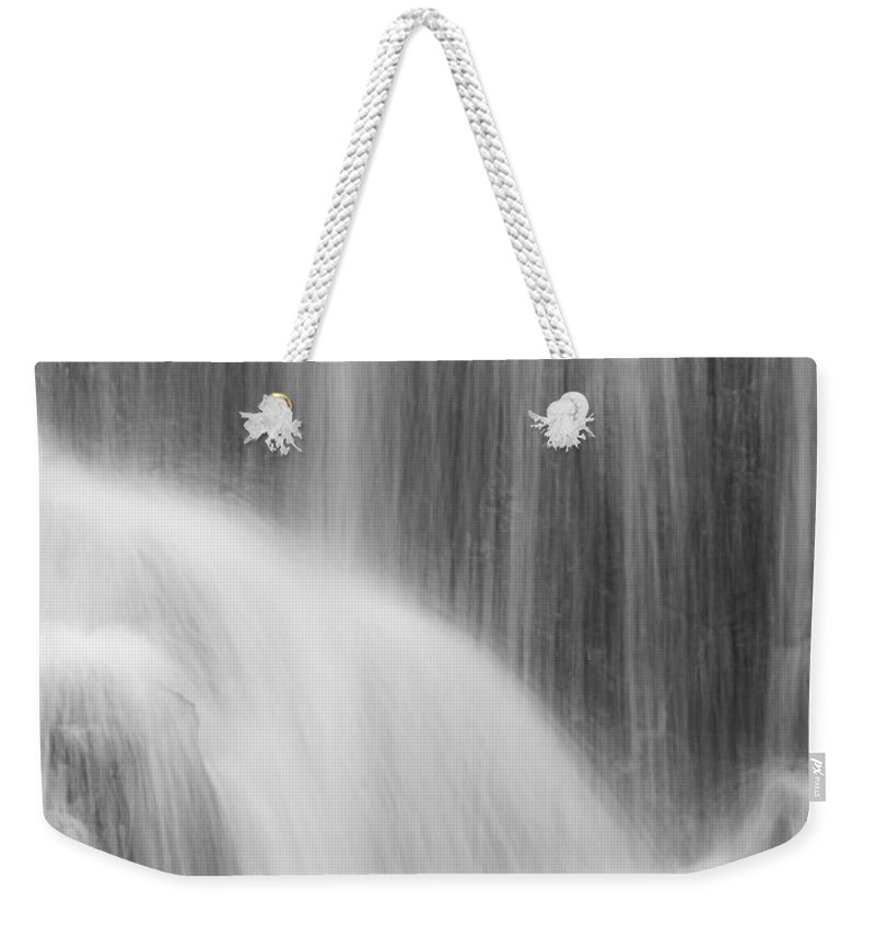 Water Weekender Tote Bag featuring the photograph Skc 0220 Flowing Design by Sunil Kapadia