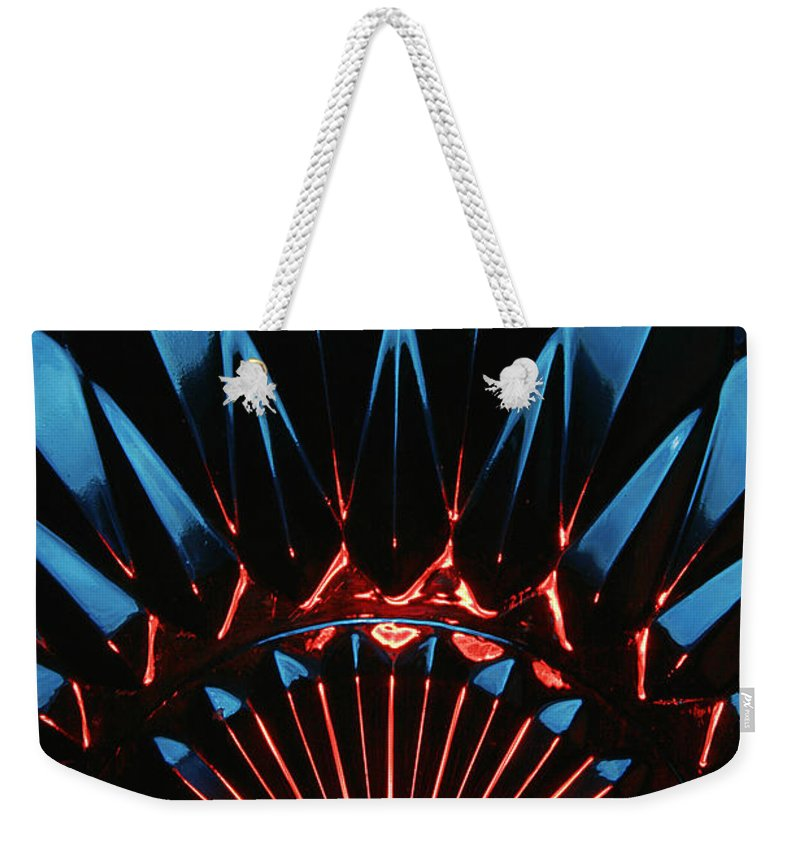 Abstract Weekender Tote Bag featuring the photograph Skc 0269 Cut Glass by Sunil Kapadia