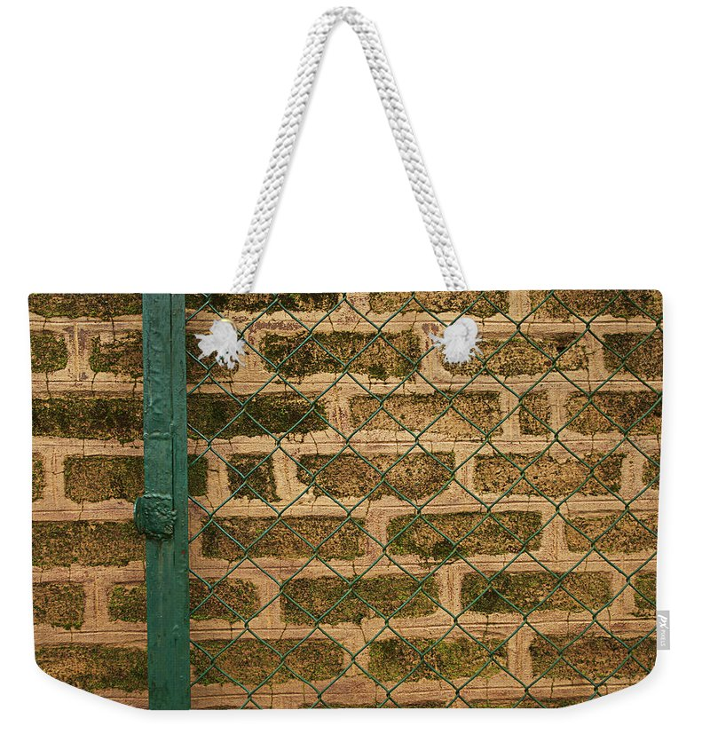 Brick Weekender Tote Bag featuring the photograph Skc 0404 Gate To The Wall by Sunil Kapadia