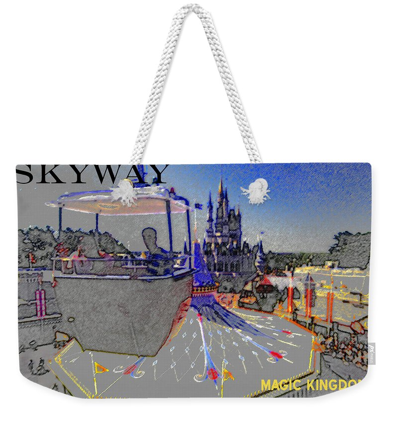 Art Weekender Tote Bag featuring the painting Skway Magic Kingdom by David Lee Thompson