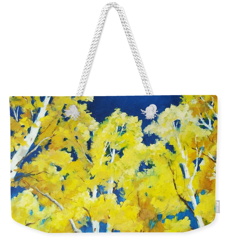 Sky Weekender Tote Bag featuring the painting Skyward by Richard T Pranke
