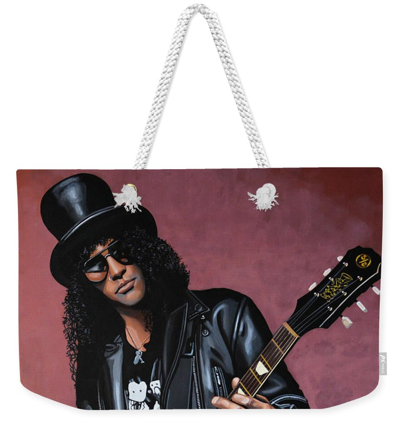 Slash Weekender Tote Bag featuring the painting Slash by Paul Meijering