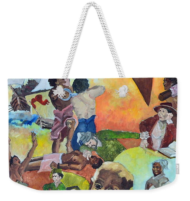 Slavery Weekender Tote Bag featuring the painting Slave Women by Charles M Williams