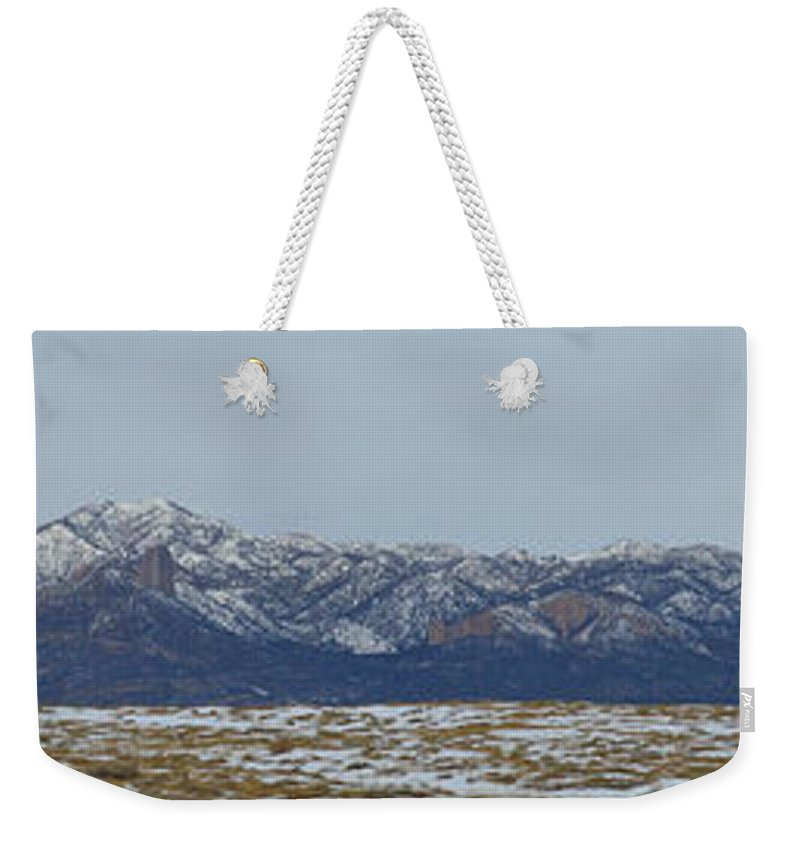 Panoramic Weekender Tote Bag featuring the photograph Sleeping Ute Mountain by Meandering Photography