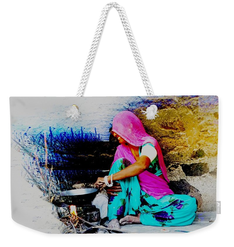 fc2a40b042b0 Slice Of Life Weekender Tote Bag featuring the photograph Slice Of Life Mud  Oven Chulha Tandoor