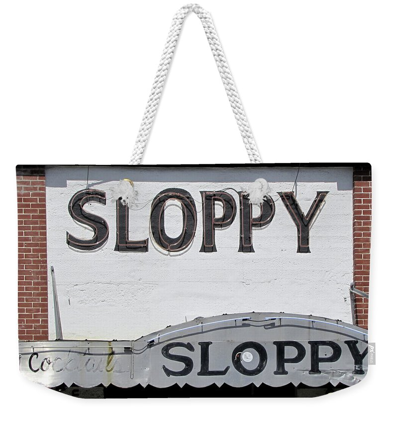 Neon Weekender Tote Bag featuring the photograph Sloppy Joes Key West by Bob Slitzan