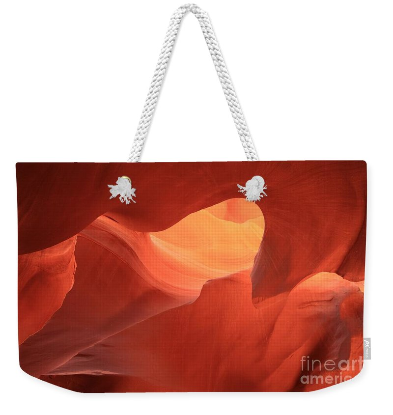 Arizona Slot Canyon Weekender Tote Bag featuring the photograph Slot Canyon Art by Adam Jewell