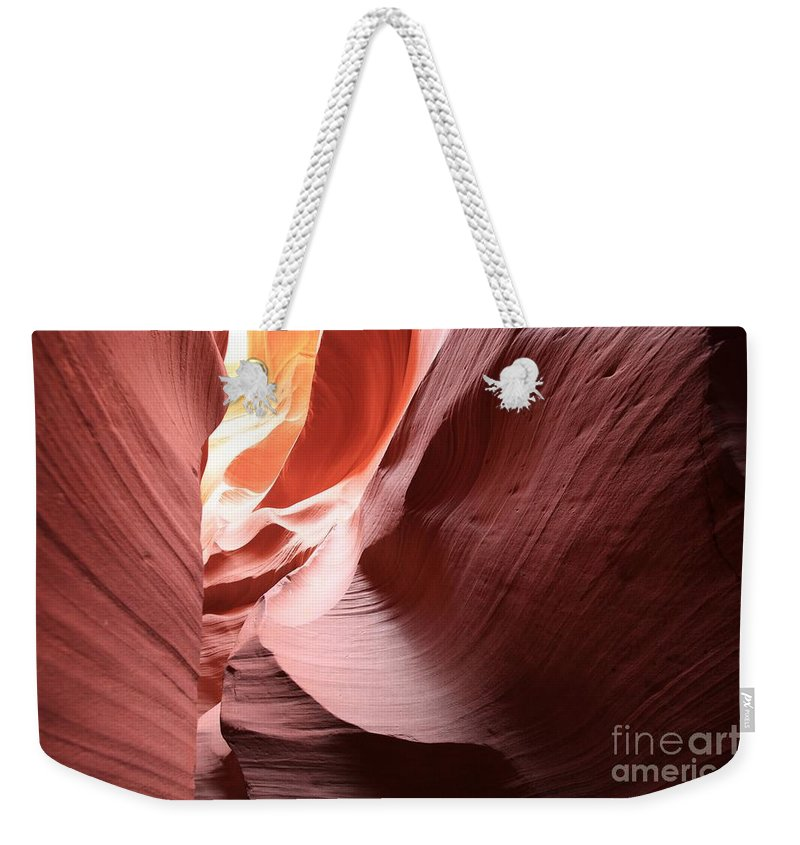 Arizona Slot Canyon Weekender Tote Bag featuring the photograph Slot Canyon Color Blend by Adam Jewell