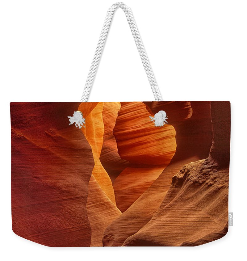Dave Welling Weekender Tote Bag featuring the photograph Slot Canyon Detail Corkscrew Or Upper Antelope Slot Canyon Arizona by Dave Welling