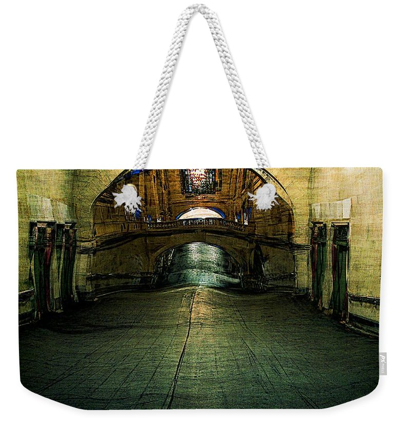 Archway Weekender Tote Bag featuring the painting Slouching Towards Bethlehem by RC DeWinter