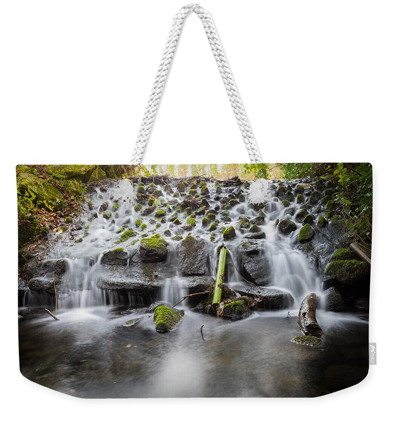 Dublin Weekender Tote Bag featuring the photograph Small Cascade In Marlay Park by Semmick Photo