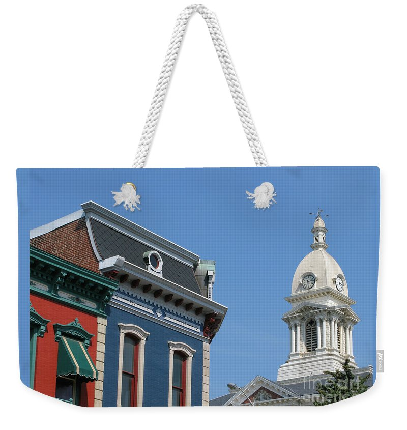 Town Weekender Tote Bag featuring the photograph Small Town America by Ann Horn