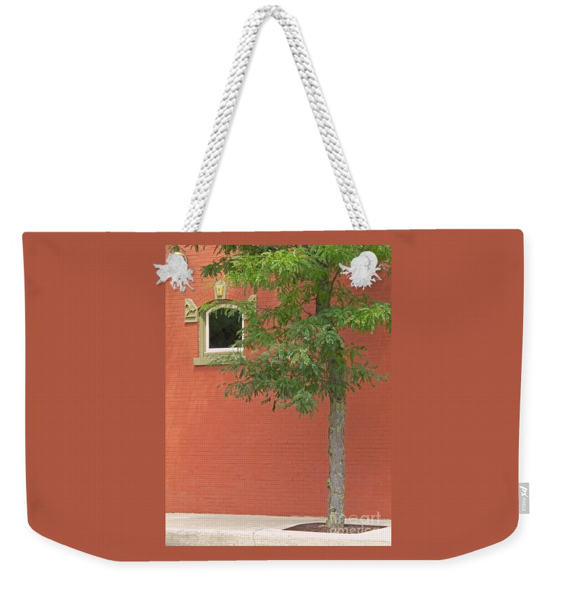 Street Weekender Tote Bag featuring the photograph Small Town Color by Ann Horn