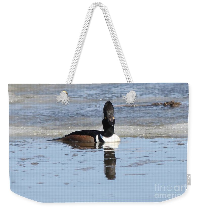 Hodded Weekender Tote Bag featuring the photograph Smile For The Camera by Lori Tordsen