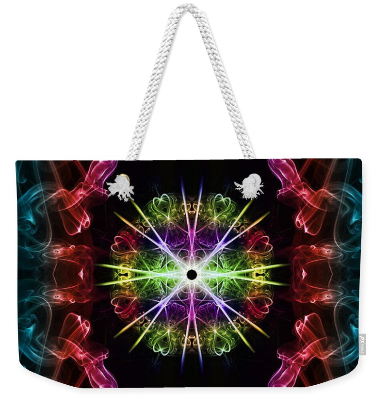 Smoking Trails Weekender Tote Bag featuring the photograph Smoke Art 124 by Steve Purnell