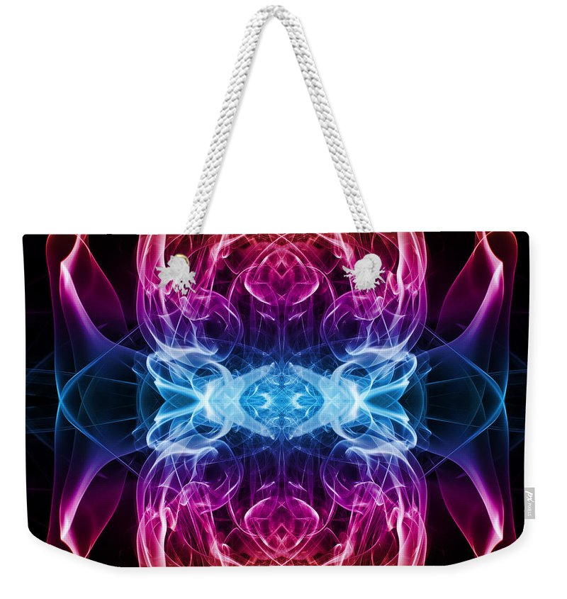 Smoking Trails Weekender Tote Bag featuring the photograph Smoke Art 69 by Steve Purnell