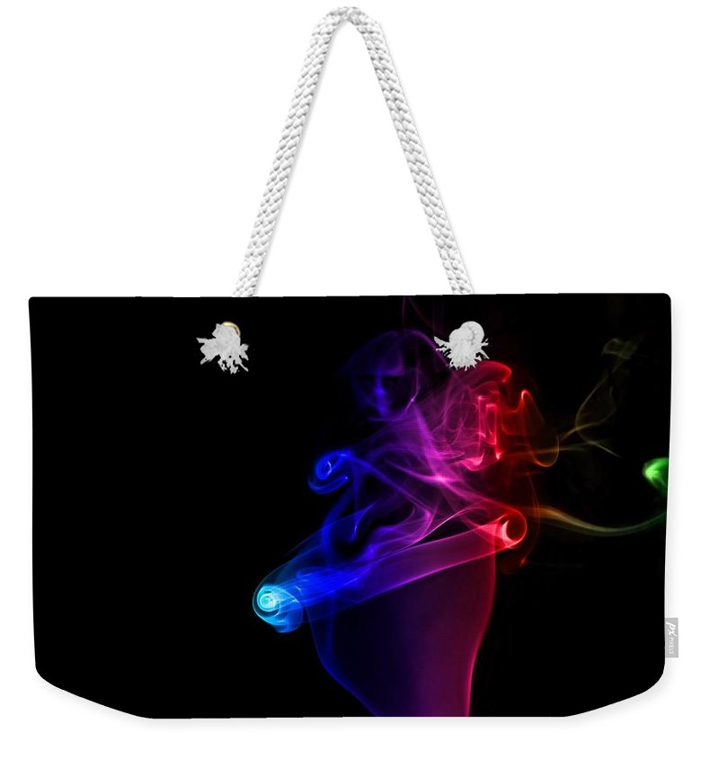 Abstract Weekender Tote Bag featuring the photograph Smoke by Paulo Goncalves