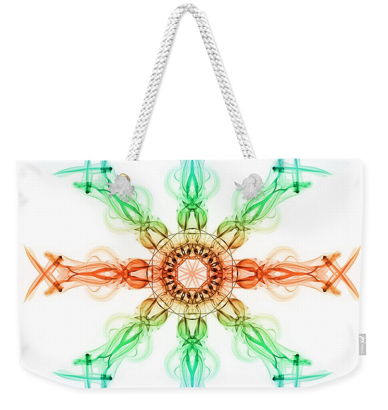 Smoking Trails Weekender Tote Bag featuring the photograph Smoke Wheel 2 by Steve Purnell