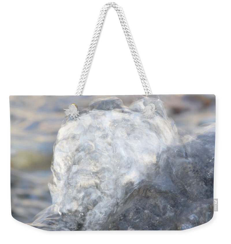 Water Weekender Tote Bag featuring the photograph Smokey Water by Brent Dolliver