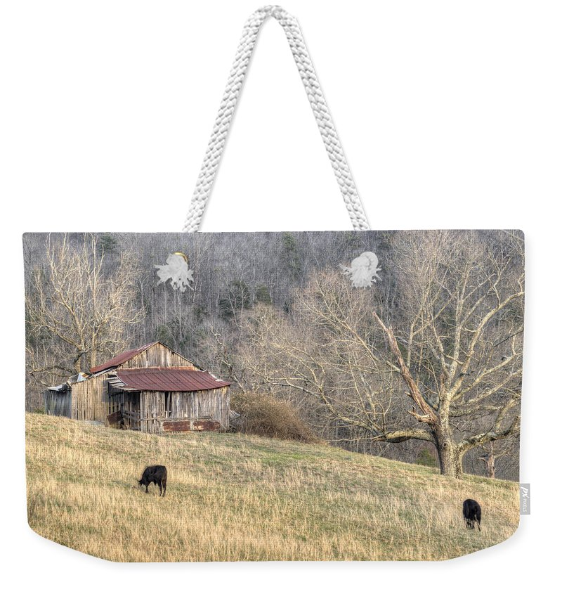 Barn Weekender Tote Bag featuring the photograph Smoky Mountain Barn 3 by Douglas Barnett