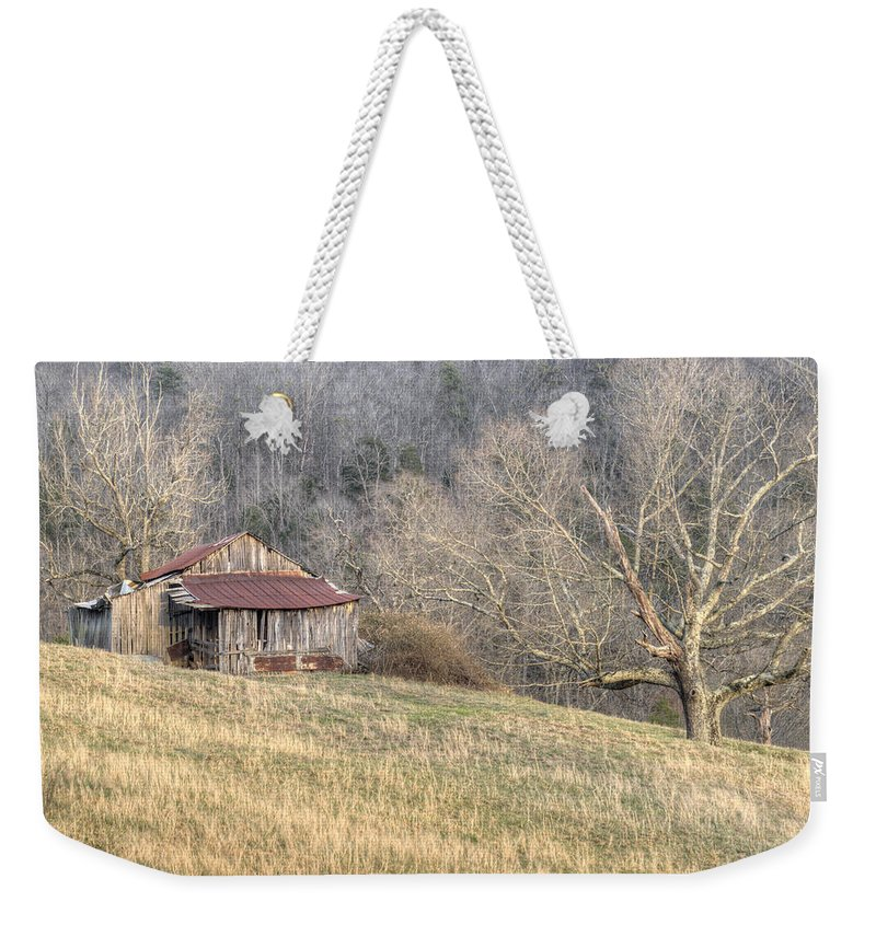 Barn Weekender Tote Bag featuring the photograph Smoky Mountain Barn 4 by Douglas Barnett