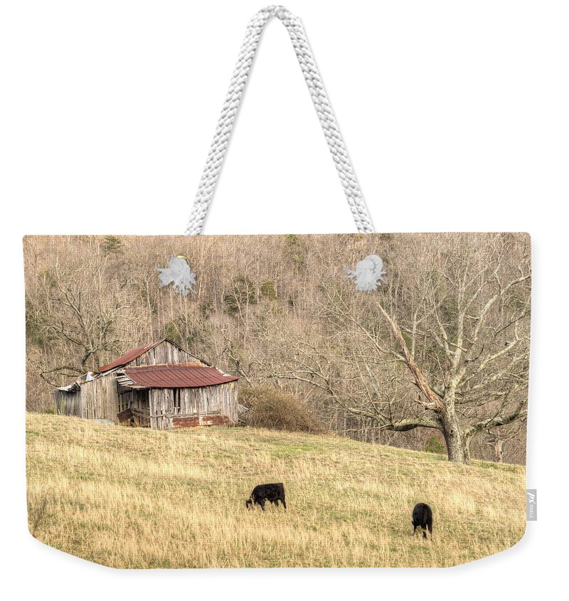Barn Weekender Tote Bag featuring the photograph Smoky Mountain Barn 6 by Douglas Barnett