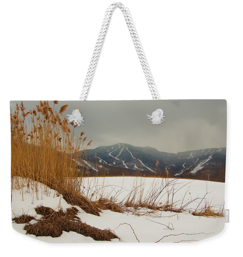 Smugglers Notch Weekender Tote Bag featuring the photograph Smuggs by Scott Hafer
