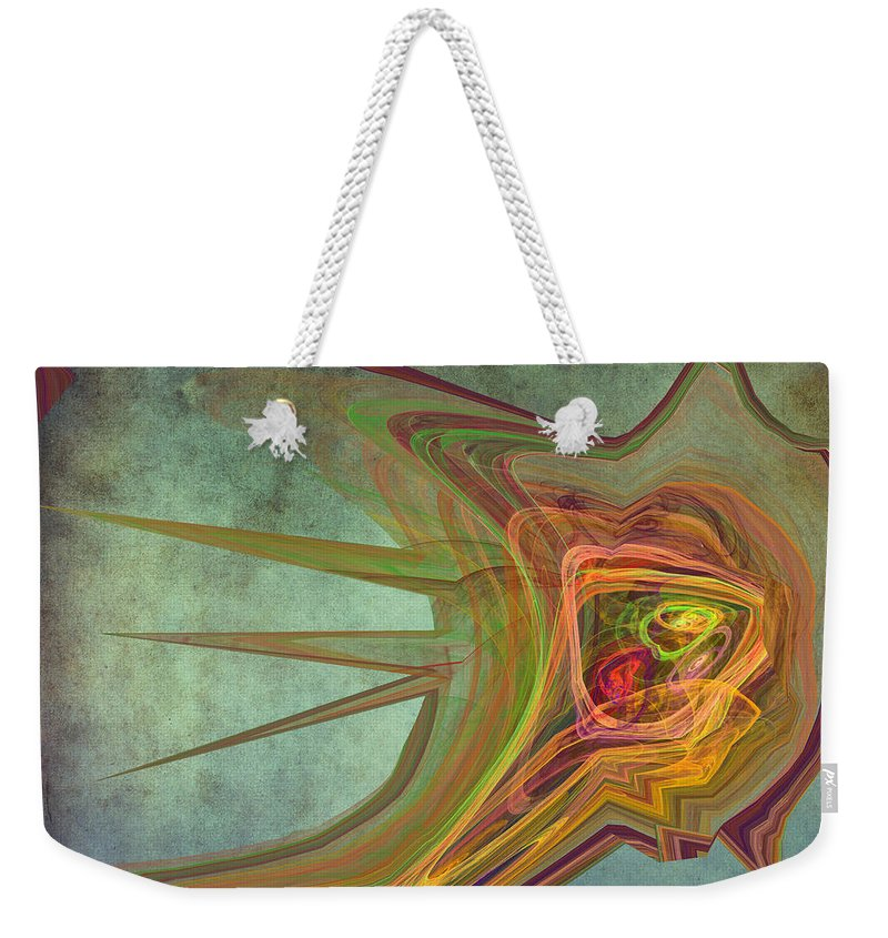 Snail Weekender Tote Bag featuring the digital art Snail In The 30th Century by Angela Stanton