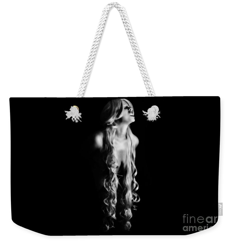 Black Weekender Tote Bag featuring the photograph Snarl by Jessica Shelton