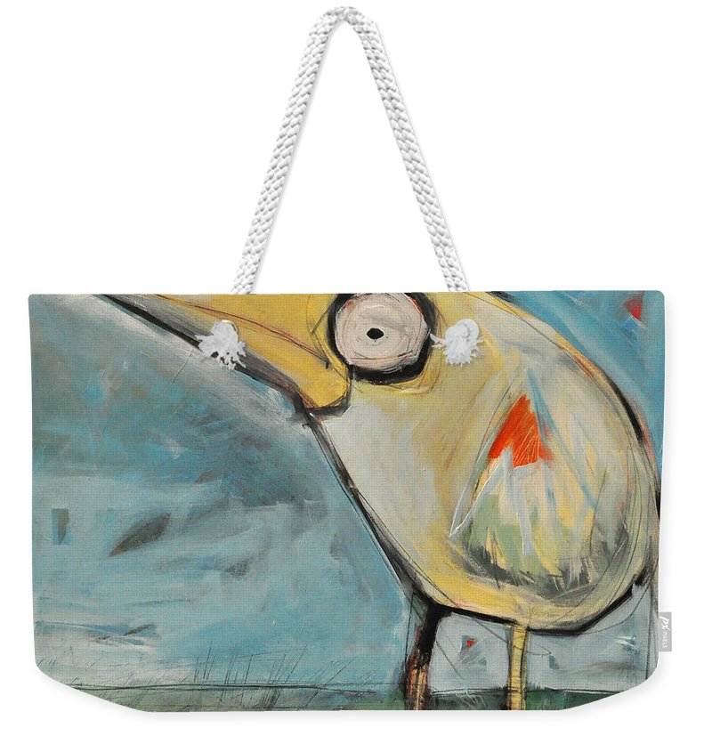 Snipe Weekender Tote Bag featuring the painting Snipe by Tim Nyberg