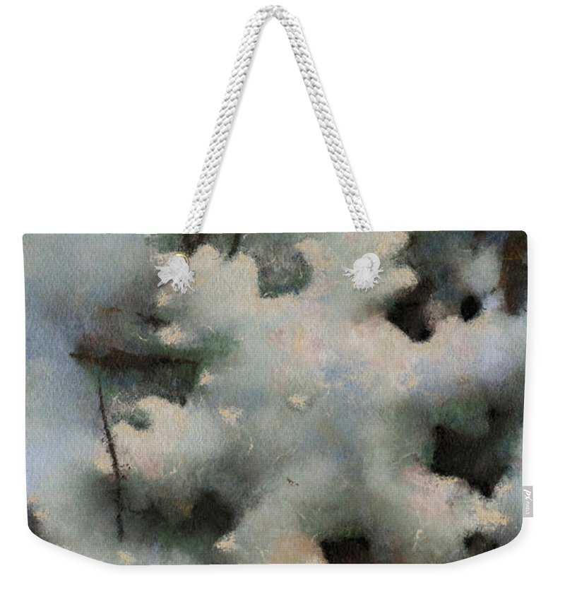 Season Weekender Tote Bag featuring the photograph Snow Flake 03 Photo Art by Thomas Woolworth