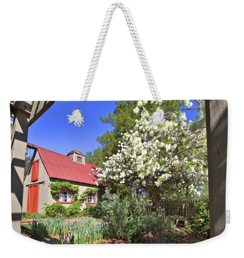 8293 Weekender Tote Bag featuring the photograph Snowball Tree In The Garden by Gordon Elwell