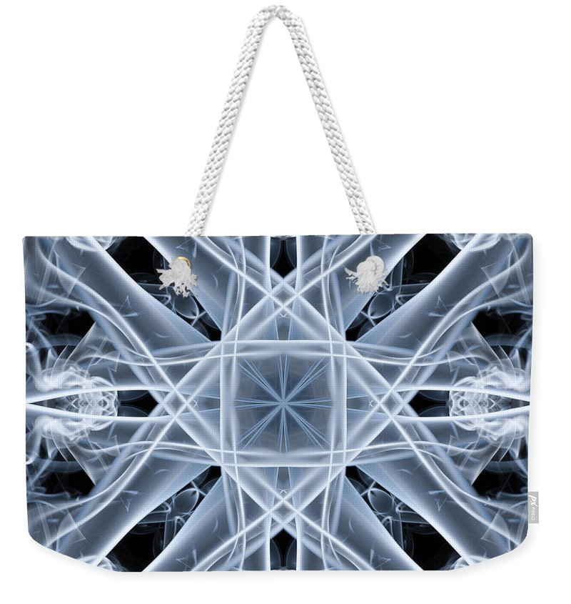 Smoking Trails Weekender Tote Bag featuring the photograph Snowflake by Steve Purnell