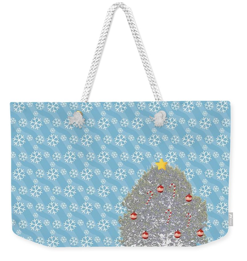 Snowy Weekender Tote Bag featuring the photograph Snowy Christmas by Tara Potts