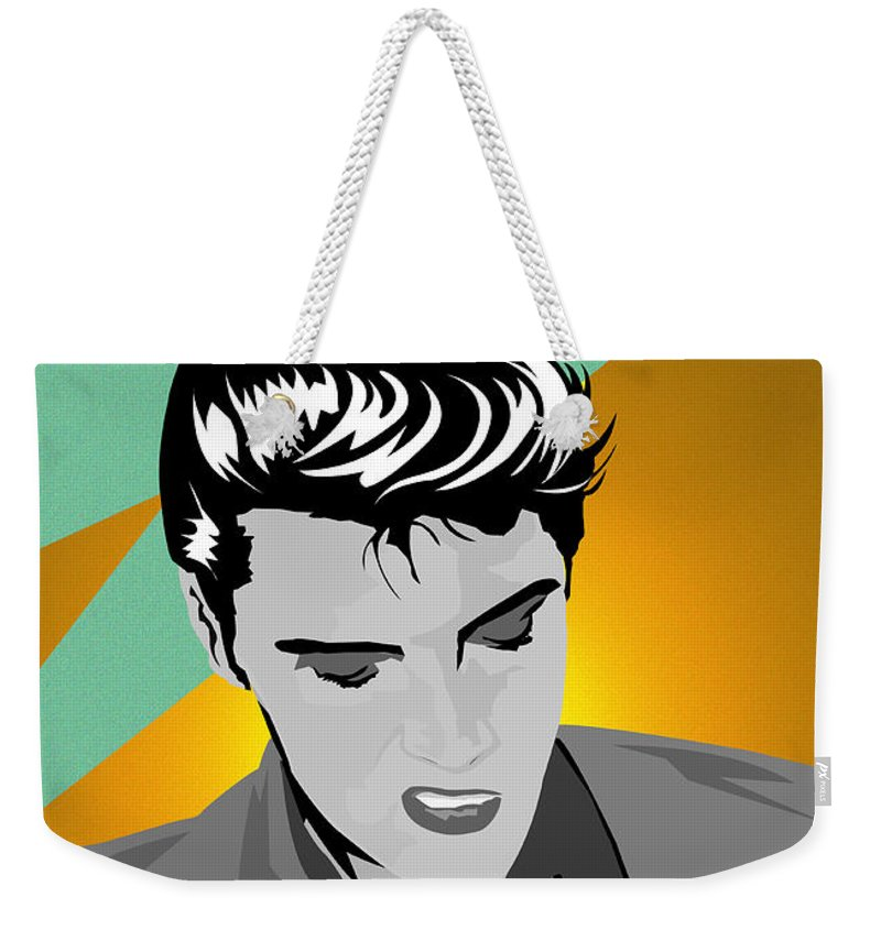 Elvis Presley Singer King Rock And Roll Rockabilly Sun Music Films Movies Pop Art Weekender Tote Bag featuring the digital art So Cool by Andy Donald