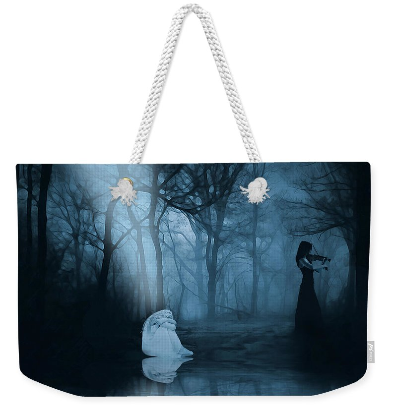 Forest Weekender Tote Bag featuring the digital art So Gone by Galen Valle