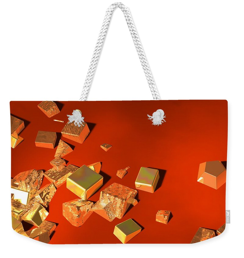 Abstract Weekender Tote Bag featuring the digital art So Shiny by Andreas Thust