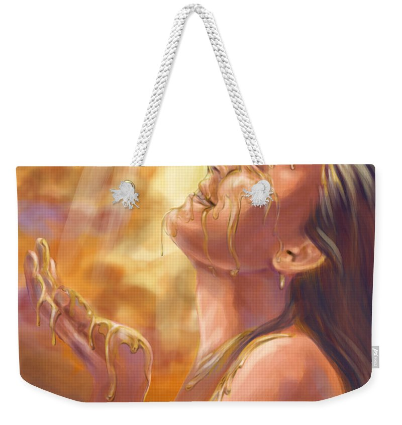 Heavenly Digital Art Weekender Tote Bags